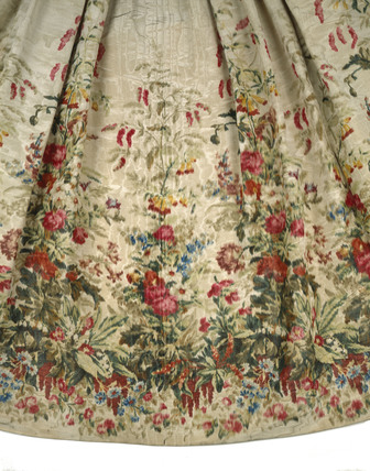 Detail of Queen Victoria's dress; 1855