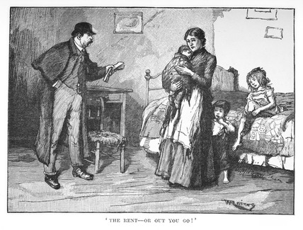 The rent or out you go! : c.1890