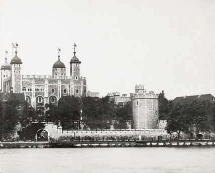 Thames Riverscape showing The Tower of London and Tower Wharf: 1937