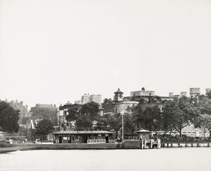 Thames Riverscape showing Tower Pier: 1937