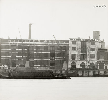 Thames Riverscape showing Hubbuck's Wharf : 1937