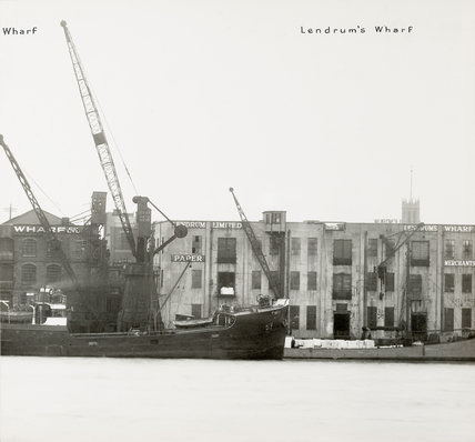 Thames Riverscape showing Lendrum's Wharf: 1937