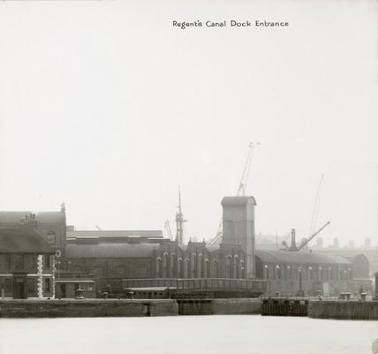 Thames Riverscape showing Regent's Canal Dock Entrance: 1937