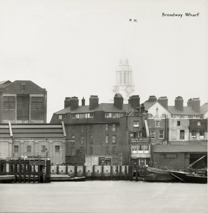 Thames Riverscape showing Broadway Wharf: 1937