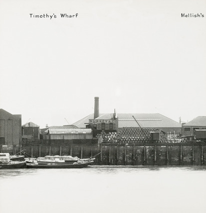 Thames Riverscape showing Timothy's Wharf and Mellish's Wharf; 1937