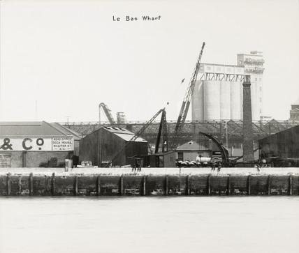 Thames Riverscape showing Le Bas Wharf; 1937