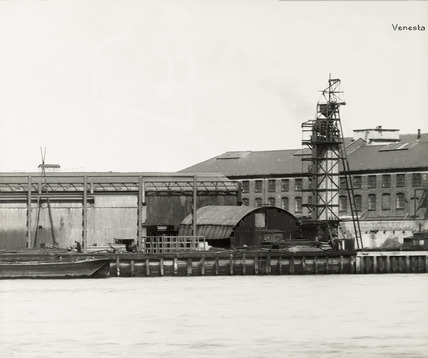 Thames Riverscape showing Venesta Wharf: 1937