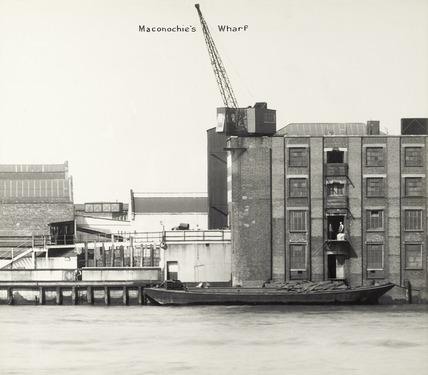 Thames Riverscape showing Maconochie's Wharf: 1937