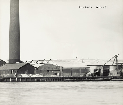 Thames Riverscape showing Locke's Wharf: 1937