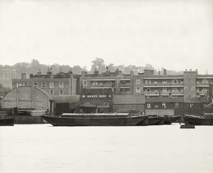 Thames Riverscape showing Anglo-Swedish Electric Welding: 1937