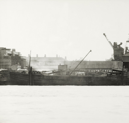 Thames Riverscape showing Dreadnought Yard - Tilbury Contracting and Dredging  : 1937