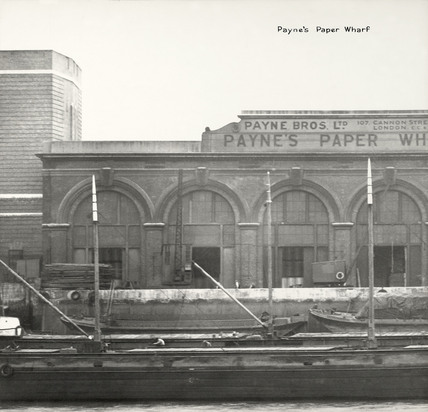 Thames Riverscape showing Payne's Paper Wharf: 1937