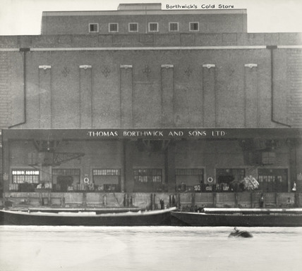 Thames Riverscape showing Borthwick's Cold Store: 1937