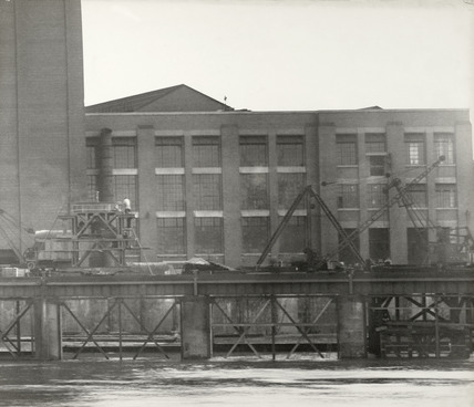 Thames Riverscape showing the end of Deptford Power Station: 1937