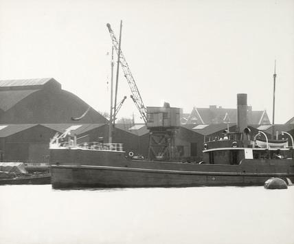 Thames Riverscape showing Deptford Supply Reserve Depot; 1937