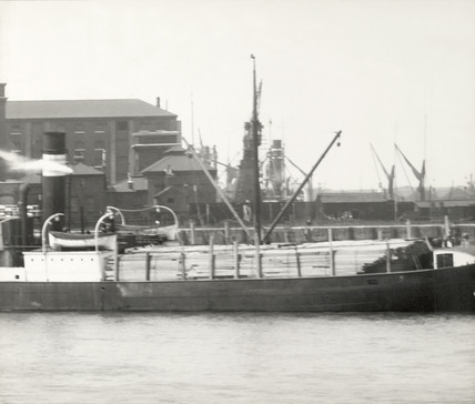 Thames Riverscape showing Greenland Dock: 1937