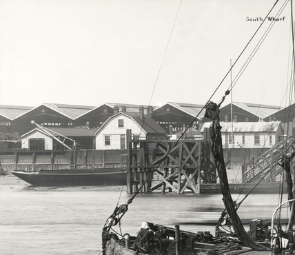 Thames Riverscape showing South Wharf: 1937