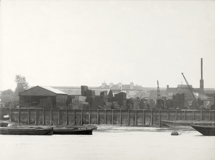 Thames Riverscape showing Durands Wharf: 1937