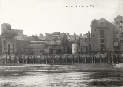 Thames Riverscape showing Lower Ordnance Wharf: 1937