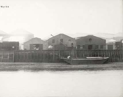 Thames Riverscape showing the Crown Lead Works:1937