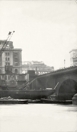 Thames Riverscape showing London Bridge: 1937