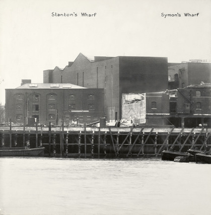 Thames Riverscape showing Stanton's Wharf and Symon's Wharf : 1937
