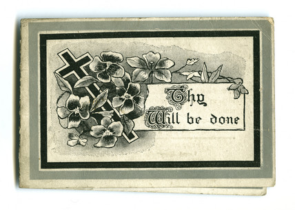 In Memoriam card: 1917