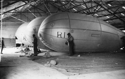 Barrage balloon garage: 1939
