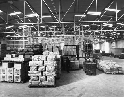 Inside P Shed Millwall Docks: 1960s