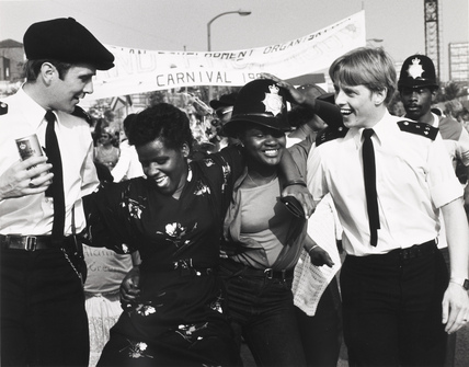 Policemen and revellers at Notting Hill: 1980-1999