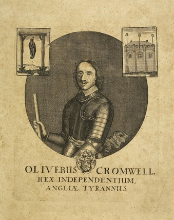 An engraving of Oliver Cromwell; 1700-1800