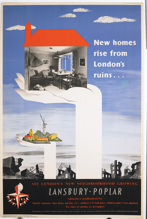 New homes rise from London's ruins; 1951