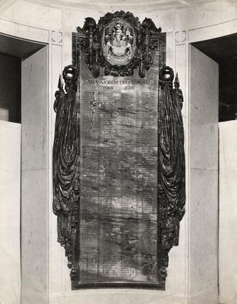 PLA War Memorial: 1926