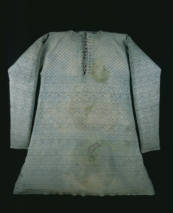 The vest Charles I wore at his execution;1640-1649