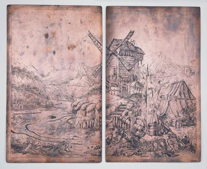 Copper printing plates: c.1830