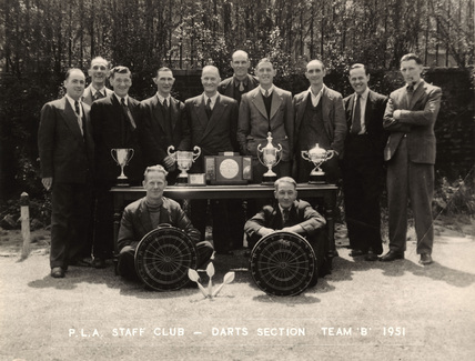 PLA Staff darts team: 1951