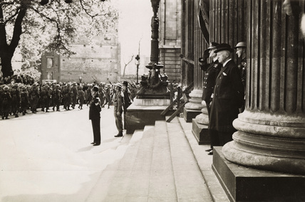 Home Guard march past: 1943