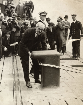 Ramsay MacDonald at Tilbury: 1930