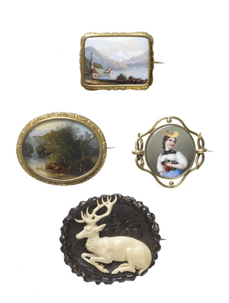 Enamel brooches: c.1840