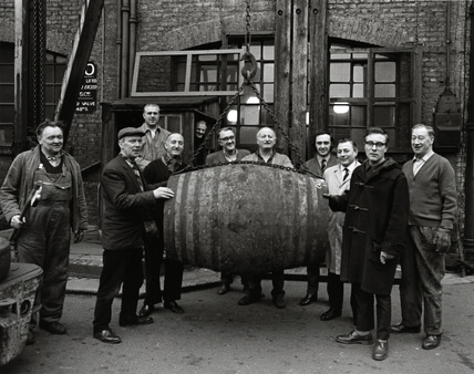 Last barrel to leave London Docks: 1969