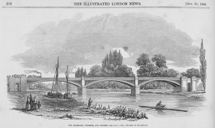 The Bridge at Richmond: 1848