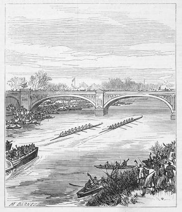 Boat race at Barnes: 1877