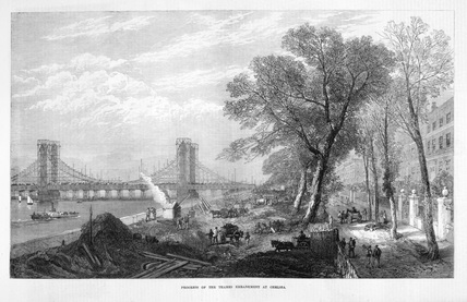 Progress of the Thames Embankment at Chelsea: 1873