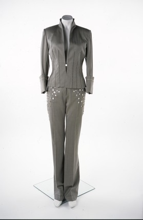This wool and cashmere trouser suit; 2003