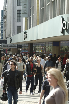 People Shopping in Oxford Street, 2006
