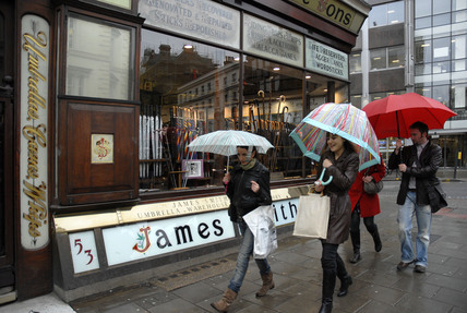 James Smith and Sons Umbrella shop New Oxford Street; 2007