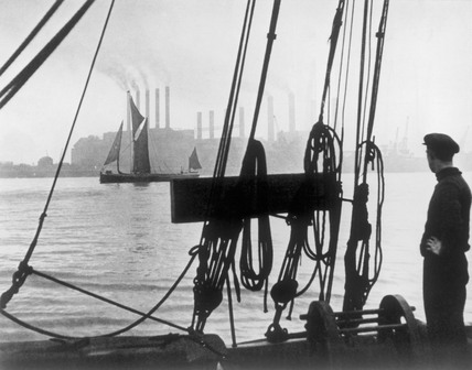 Working boats on The River Thames; 1937