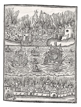 Prediction of the Great Fire by William Lilly:1651