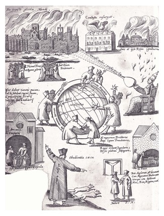Detail from Anti-Jesuit book: Pyrotechnica loyolana: 1667