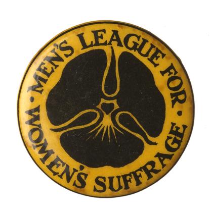 Men's League for Women's Suffrage badge: c.1908